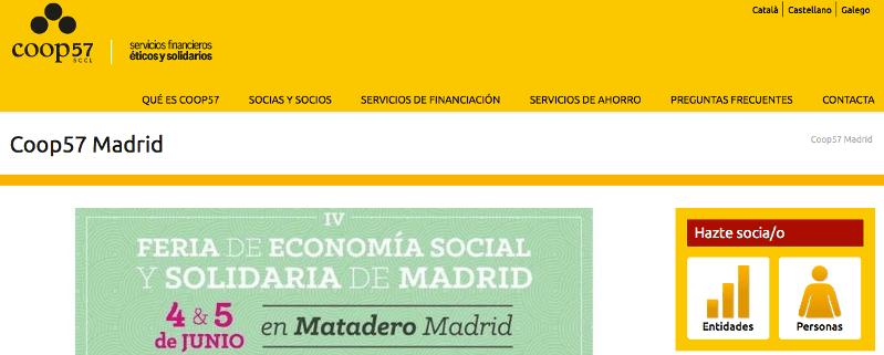 web Coop57 Madrid